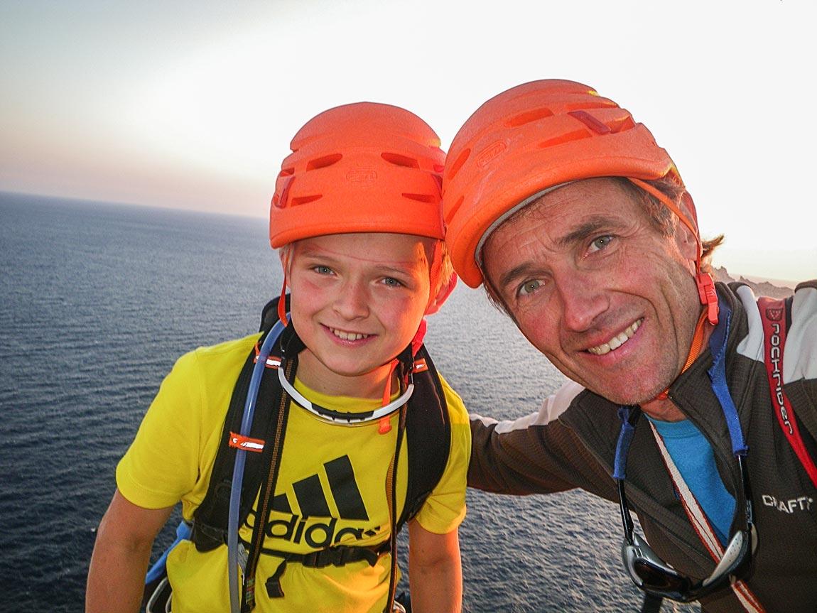 Bernard Gravier, guide de haute montagne et son fils Adrien