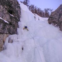 Cascade de glace Hautes Alpes