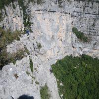 Stage d'escalade grandes voies falaise de Presles