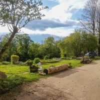 Jardin devant le gîte Entre Ciel et Pierres